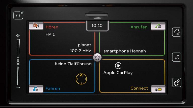 Audiodisplay im Suzuki SX4 S-Cross Hybrid.