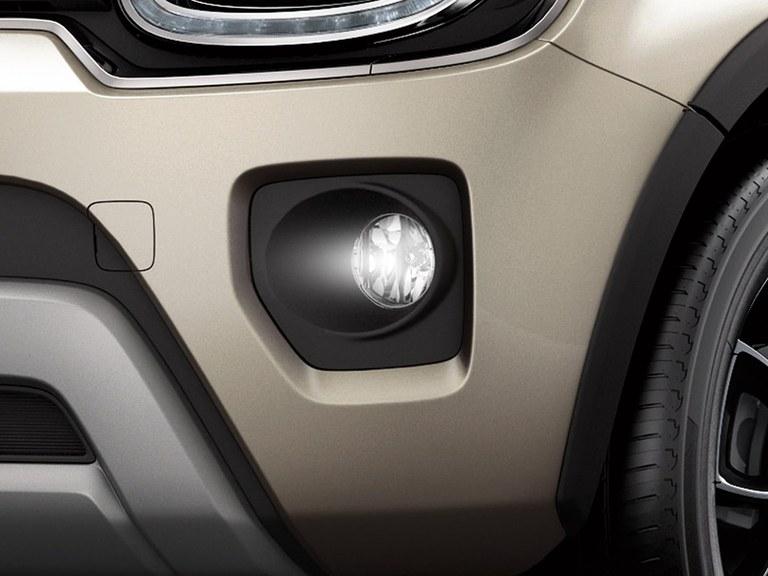 Nebelscheinwerfer des Suzuki Ignis Hybrid in Caravan Ivory Pearl Metallic.