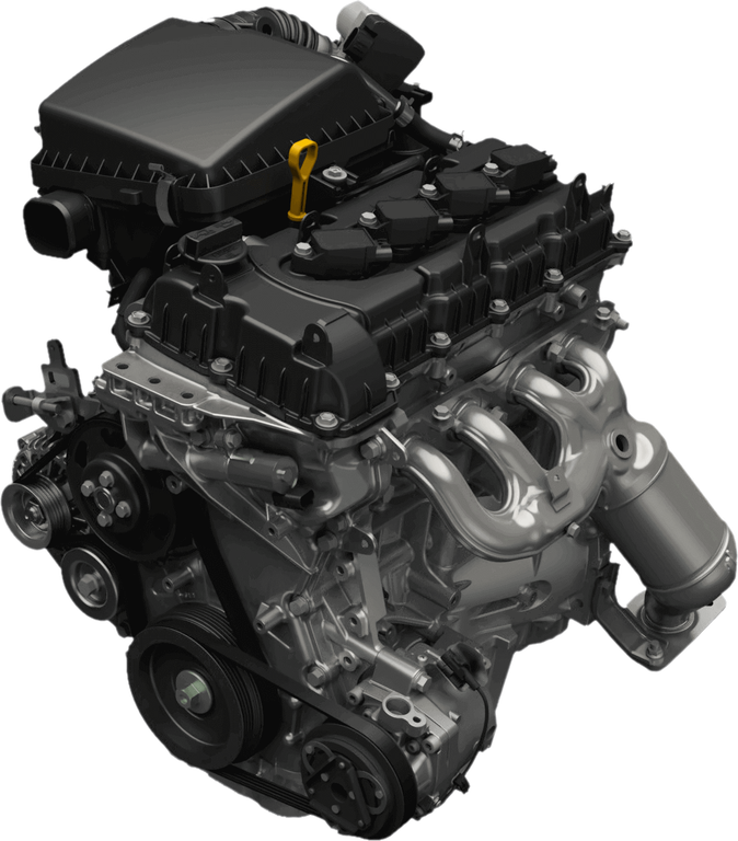 Ansicht des Suzuki Jimny Hybrid 1.5 Liter Benzinmotors
