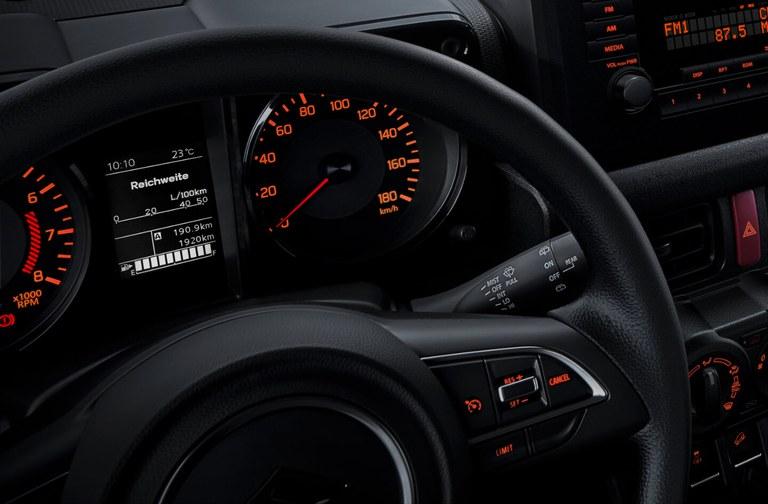 Suzuki Jimny beleuchtete Instrumente