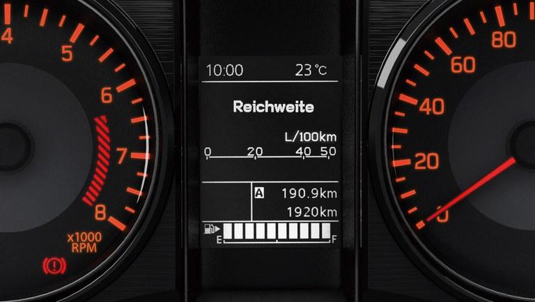 Multifunktionsdisplay im Suzuki Jimny Hybrid.