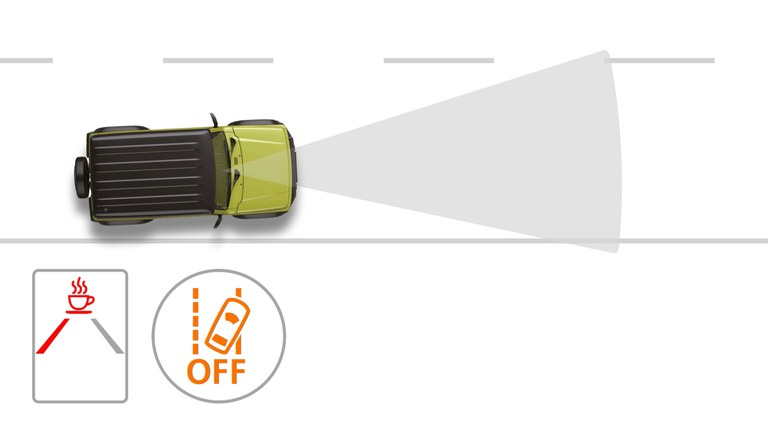 Grafik zur Müdigkeitserkennung im Suzuki Jimny Hybrid.