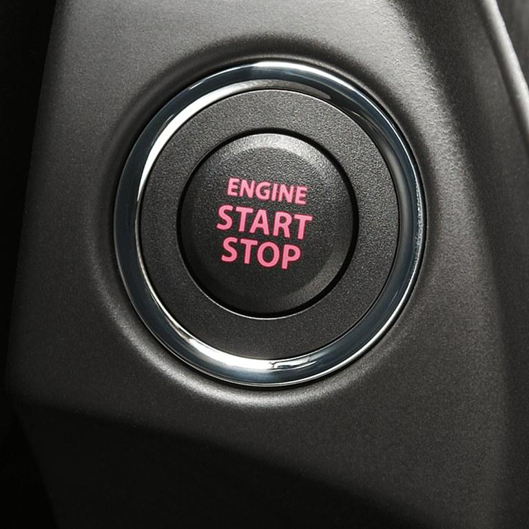 Keyless Start im Suzuki Swift Sport Hybrid.