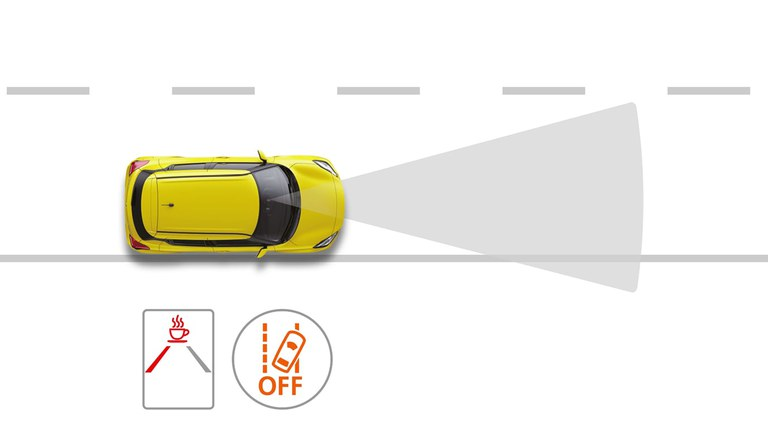 Grafik zur Müdigkeitserkennung im Suzuki Swift Hybrid.