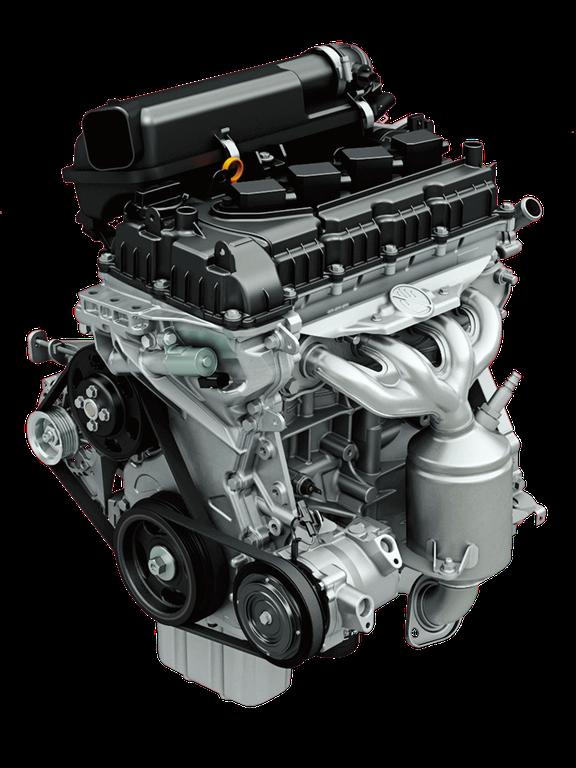 Ansicht des Suzuki Swift Hybrid 1.2 Liter Dualjet Motors