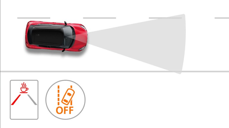 Grafik zur Müdigkeitserkennung im Suzuki Swift Hybrid
