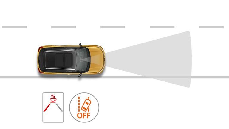 Grafik wie die Müdigkeitserkennung der Suzuki Hybrid Modelle funktioniert.