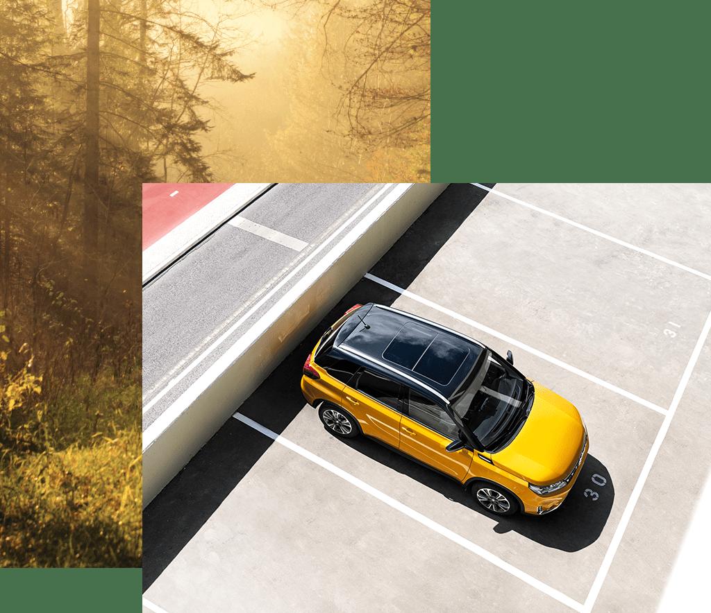 Suzuki Vitara Hybrid in Solar Yellow Pearl Metallic.